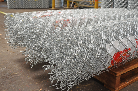 Chainmesh Galvanised Closeup