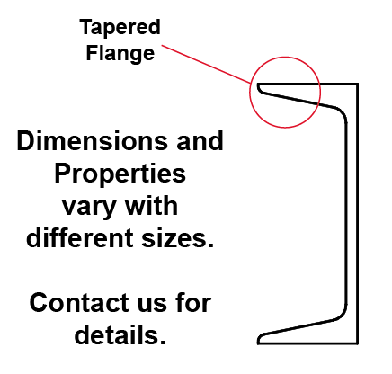 Tapered Flange Channel Side Profile