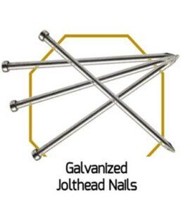 Galvanised Jolthead Nails