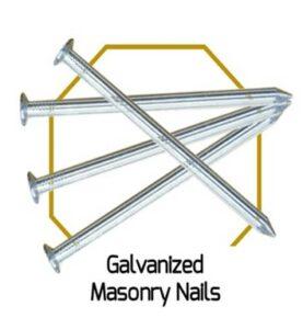 Galvanised Masonary Nails