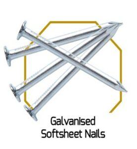 Galvanised Softsheet Nails