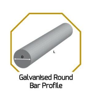 Galv. Round Bar Profile
