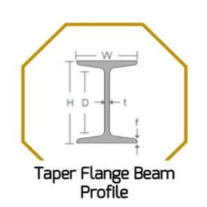 Taper Flange Beam Profile
